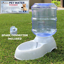 Large Automatic Pet Dog Cat Water Feeder Bowl Bottle Dispenser Plastic 4.0Liters