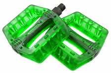 "Diamondback Mountain Bike Resin Pedals 9/16"" Translucent Green 40% OFF"
