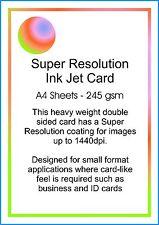 Photo Matt Card 245gsm Inkjet Printer Paper Pack of 100 A4 Sheets
