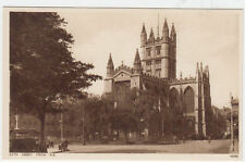 VINTAGE POSTCARD OF BATH ABBEY SOMERSET FROM NORTH EAST UNPOSTED.