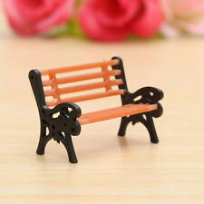 Mini Garden Ornament Miniature Park Seat Bench Craft Fairy Dollhouse Decor