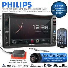 "New PHILIPS CED1800BT 6.2"" HD Touch Screen Double DIN Car DVD GPS Ready Stereo"