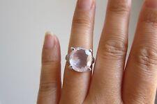Natural Rose Quartz Sterling Silver Ring Size M 1/2( US 6.5 EUR 53.1)