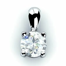 Special Offer!!! 0.30Ct Round Diamond Solitaire Pendant,Platinum.