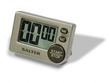 SALTER LARGE BUTTON ELECTRONIC TIMER 397SVXR FREESTANDING STYLISH BLACK/SILVER