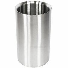 Grunwerg Wine Cooler Double Wall Brushed Stainless Steel Bottle Bucket Holder