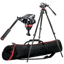 Manfrotto MVH502A Head, 535 Carbon Fibre Tripod System With Bag
