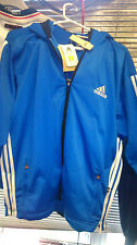 ADIDAS  HOODY IN 36/38 INCHAT £22 full ZIP   TRACK TOP med  POLYESTER
