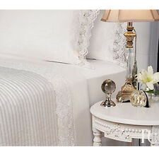 CONTESSA WHITE Guipure Lace Sheet Set Queen Size Bed By PRIVATE COLLECTION NEW