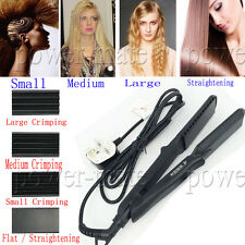 1.5 Inch Pro Ceramic Hair Crimper Set Crimping Styling Tool Curling Iron Styler