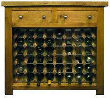 NEW SOLID WOOD WINE BOTTLE RACK SIDEBOARD DRESSER RUSTIC PLANK PINE FURNITURE