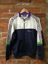 VINTAGE ASICS TRACK TOP TRACKSUIT JACKET BLUE RETRO 80s 90s (TT26) SIZE SMALL