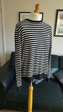 MENS FRED PERRY JUMPER TOP SIZE EXTRA LARGE  XL BLACK WHITE LONG SLEEVED COTTON