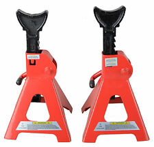 AU 2pc Car Jack Stand 3T 3000kg Ratchet Adjustable Lift Hoist Heavy Duty Steel