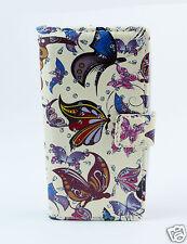 Samsung Galaxy S5 mini Case Flip Etui Tasche Hülle Schmetterlinge bunt Strass