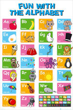 Alphabet Poster Learn My ABC 61x91cm Wall Chart Fun Children's Educational #288