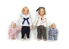 New 1:12 12th Scale Dolls House Miniature 4 Pc Children Family Set People Modern