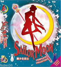 Anime DVD Sailor Moon Season 1 - 6 + 3 Movie Complete ENGLISH AUDIO Box Set