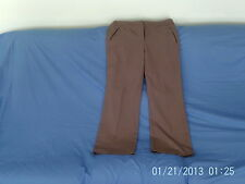 """Womens Size 14 - Taupe Brown Smart Trousers, 30"""" length - BHS"""