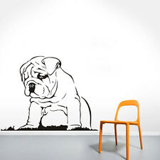 Languid Dog Vinyl Wall Sticker Bulldog Puppy Wall Decal Home Decor Art Mural