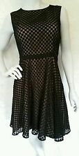 DKNY BLACK CREPE LACED DRESS/SIZE: 8