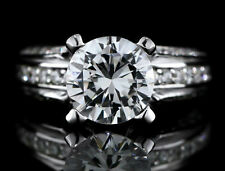 2.50 CARAT SOLITAIRE DIAMOND ENGAGEMENT RING IN 18K WHITE GOLD