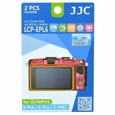 JJC LCP-EPL6 LCD Screen Protector Guard Film Cover for Olympus E-PM2 E-PL5 E-PL6