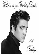 Personalised Birthday Card - Elvis Presley  Any Age, Name or Relation