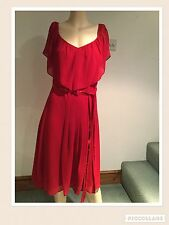 BNWT NEW STUNNING RED RUFFLE & SEQUIN DRESS BY HOLLY WILLOUGHBY SIZE 6 8 RRP £59