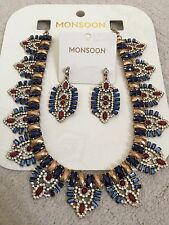 Monsoon Omaha Egyption Necklace And Earrings BRAND NEW