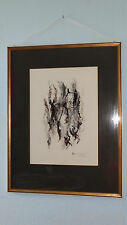 Grosses Aquarell Gemälde Josef Wedewer Original 1970 Bild abstract signiert