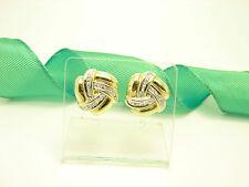 Vintage Diamant Ohrringe 585 gold 14 kt Bicolor Damenschmuck Ohrstecker