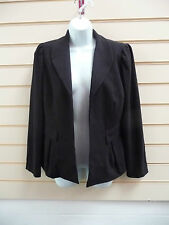 WOMENS BLACK FORMAL / PARTY NON BUTTON LINED JACKET SIZE 12 BNWT