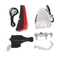 Bike Cycling Dynamo LED Headlight Taillight Set No Batteries Needed Torch Lamp