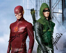 Stephen Amell Grant Gustin Arrow X Flash TV Signed Photo Autograph Reprint