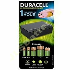 Duracell UNIVERSAL Battery Charger for AA  AAA  NiMh NiCd - C D & 9V PP3