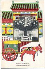 China, South Manchurian Railway Comp., Schlafwagen, Prägekarte, um 1910