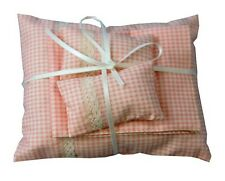 Pink & White Duvet with Sheet & Pillows Dolls House Miniature Bedding Bedroom