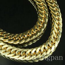 "Fashion Mens 18k Solid Yellow Gold Filled Necklace Chain 23.6"" /120g"