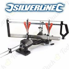 PROFESSIONAL SILVERLINE 600mm LARGE COMPOUND MITRE SAW Angle Cutting Frame Wood