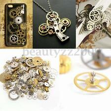 50g Lot Steampunk Old Watch Parts Pieces GEARS COGS WHEEL Novelty DIY Craft