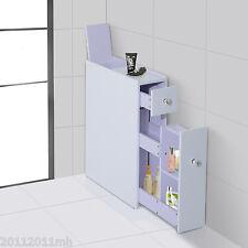 HOMCOM Functional Bathroom Floor Cabinet Storage Organizer Kitchen Cupboard