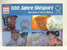 *** 5 EURO Gedenkmünze ÖSTERREICH 2005 Skisport Hermann Maier Silber Münze Coin