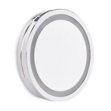 Magnifying Suction Cup LED Illuminated Bathroom Cosmetic Shaving Vanity Mirror