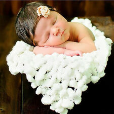 Baby Soft Photography For Photo Props Blanket 60*60cm white Newborn Clothes MW