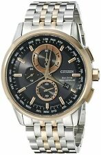 Citizen AT8116-57E Men's Two Tone Rose Gold World Time A-T Chronograph Watch