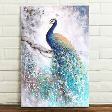 Unframed Canvas Prints Modern Home Decor Wall Art Picture-Beautiful Peacock