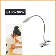 LED Study Table Clip-On Desk Lamp Office Home Energy Efficient Bedroom Lloytron