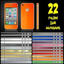 IPHONE 4S FOLIE ORANGE MATT ( BUMPER COVER HÜLLE SCHALE CASE AUFKLEBER)