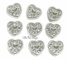 Crystal Hollow Heart Floating Charm For Living Memory Locket Necklace Pendant